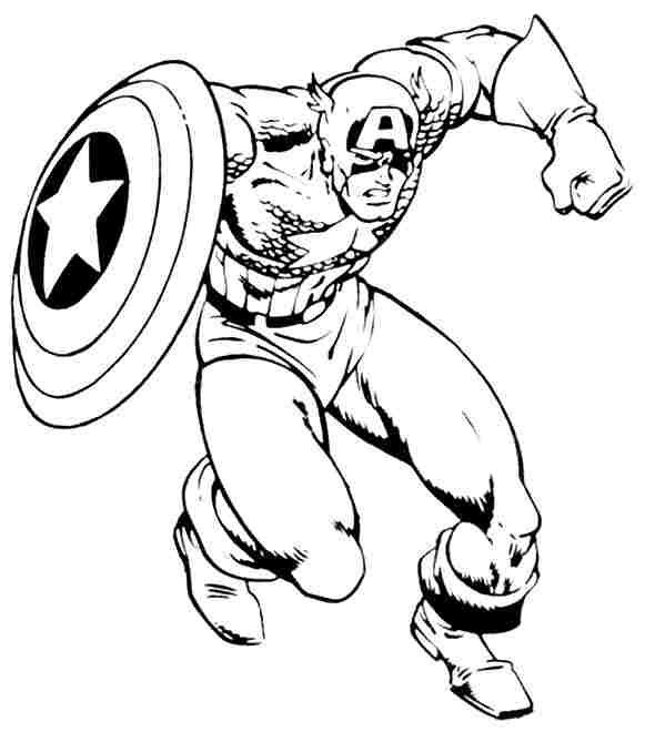 Beautiful Cute Captain America Coloring Pages Anyoneforanyateam
