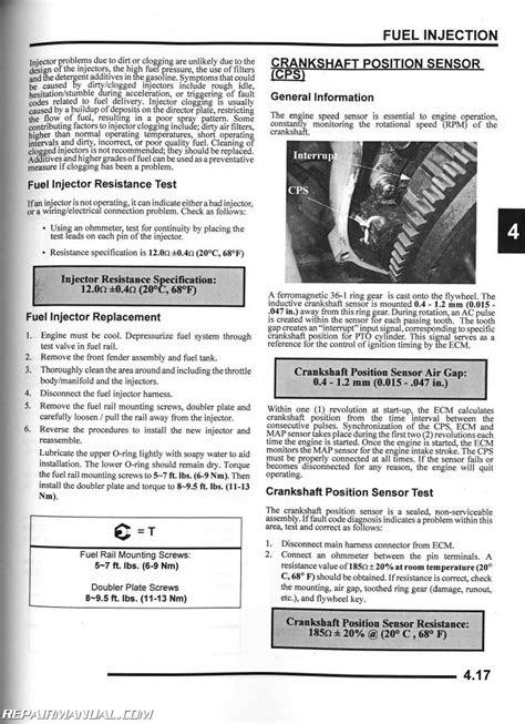 2007 Polaris Sportsman 450 500 X2 EFI ATV Repair Manual
