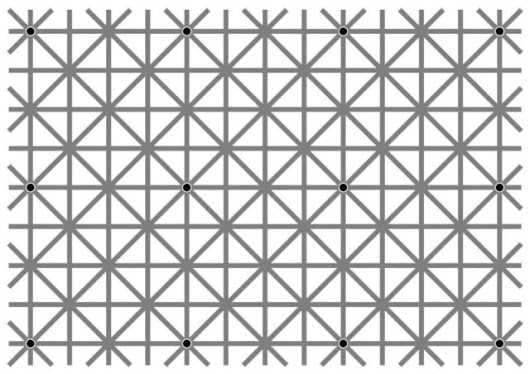 Optical Illusion: Can You See All 12 Dots At the Same Time?