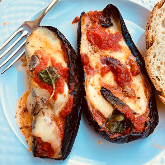 roasted eggplants alla marinara