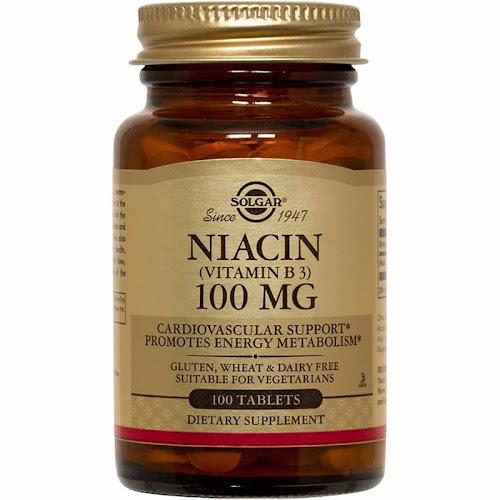 Solgar - Niacin (Vitamin B3) 100 mg Tablets - 100