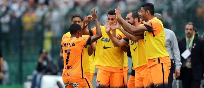 Elias gol Corinthians (Foto: Cristiano Andujar / Ag. Estado)