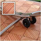 Vifah Outdoor Wood Deck Tiles - Brown