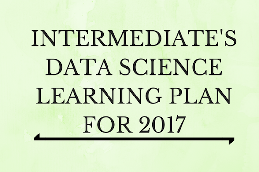 Infographic - Learning Plan 2017 for Intermediates in data science
