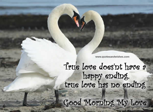 True Love Doesnt Have A Happy Ending True Love Has No Ending Good