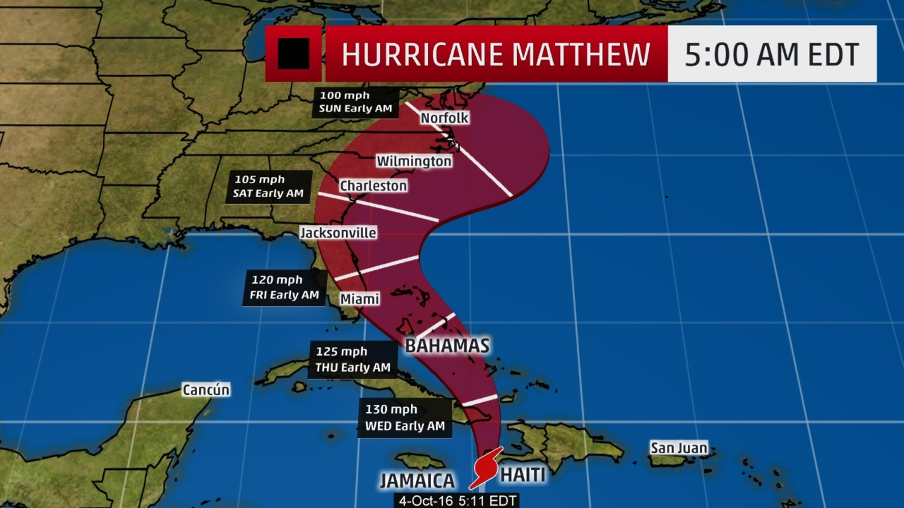 Hurricane Matthew To Hammer Florida, Georgia, Carolinas