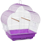 Prevue Pet Products Palm Beach Scallop Roof Budgie Cage - Purple