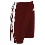 "Russell Women's 7"" Inseam Wicking Panel Red/White Basketball Shorts"