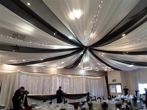 wedding black and white ceiling draping   ceiling drapes