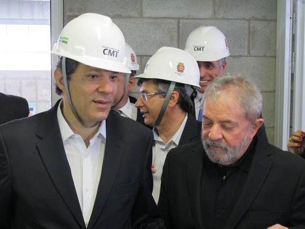 Lula e Haddad inauguram de central de reciclagem em São Paulo (Foto: Roney Domingos/G1)