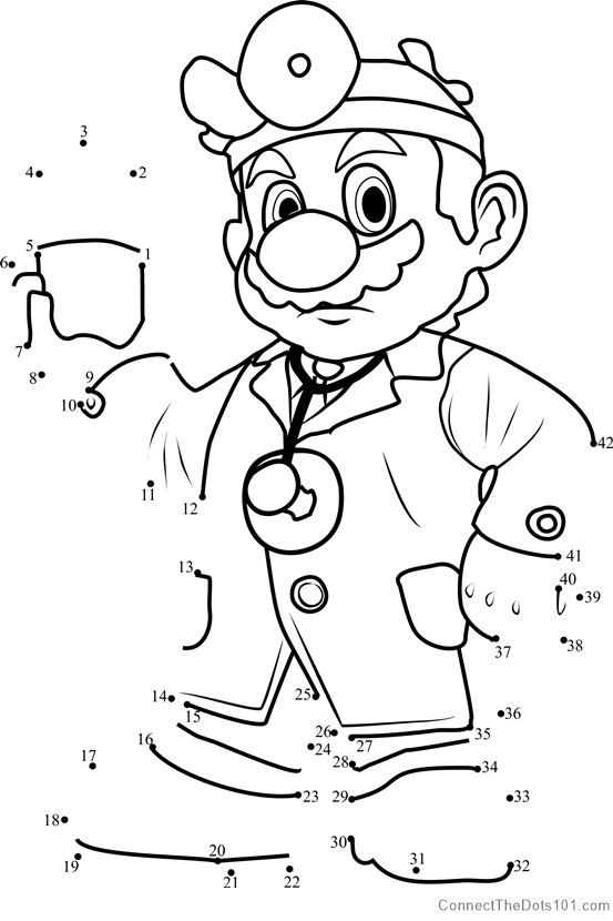 Dr Mario from Super Mario dot to dot