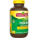 Nature Made, Fish Oil, Burp-Less, 1200 mg, 200 Liquid Softgels