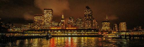 Skyline - Night Lights In San Francisco