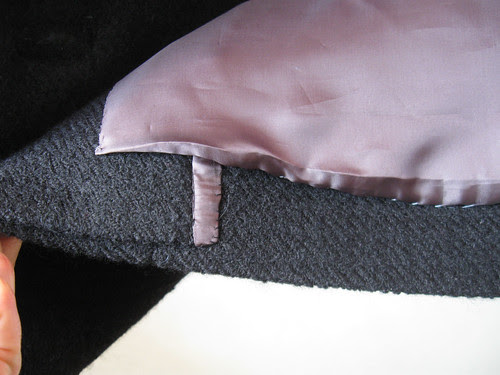 Hem facing edge