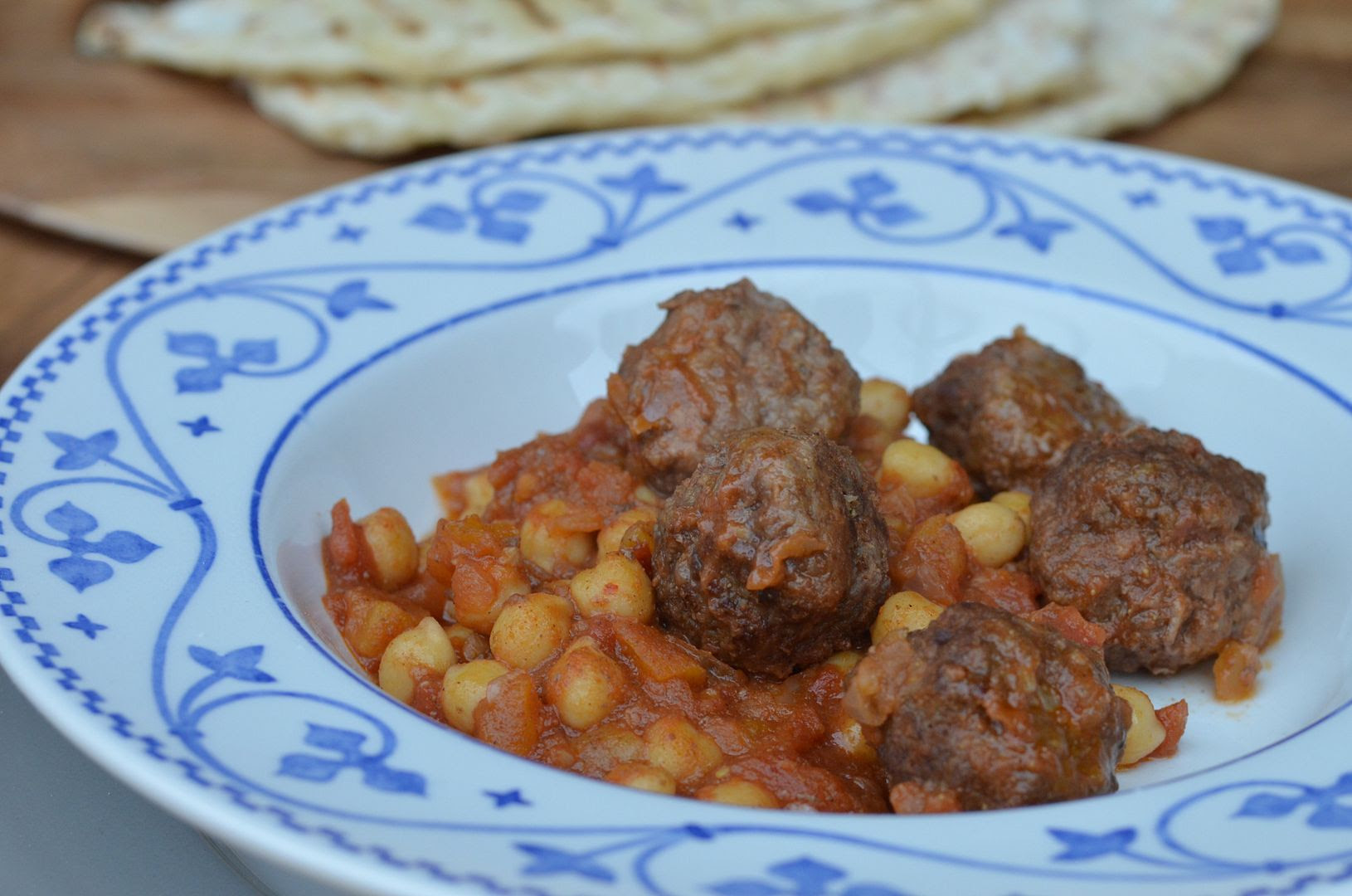 Moroccan Meatballs with Chickpeas