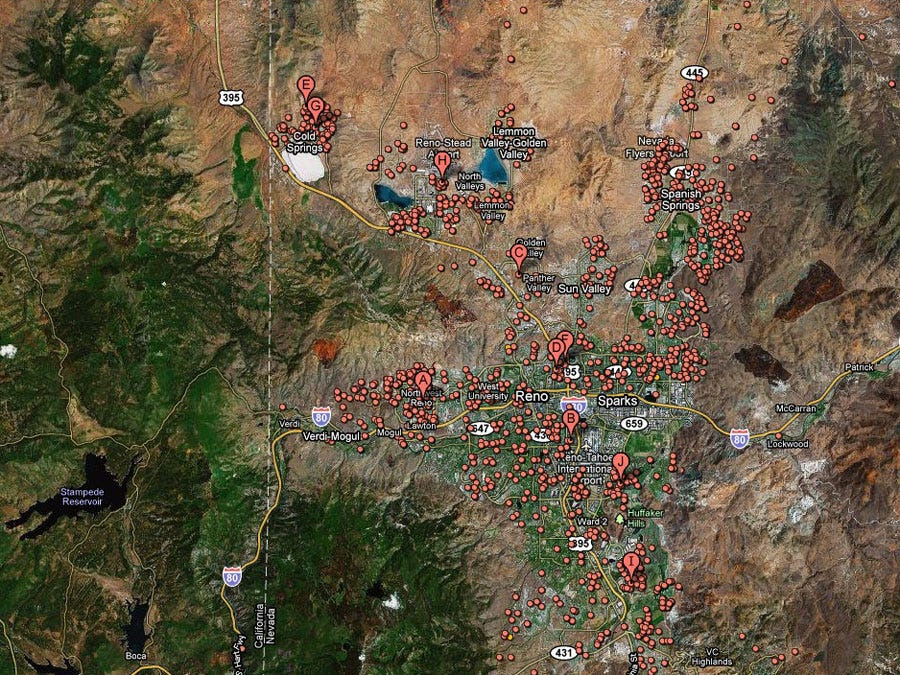 Reno, Nev. -- 1 in 16 homes in foreclosure