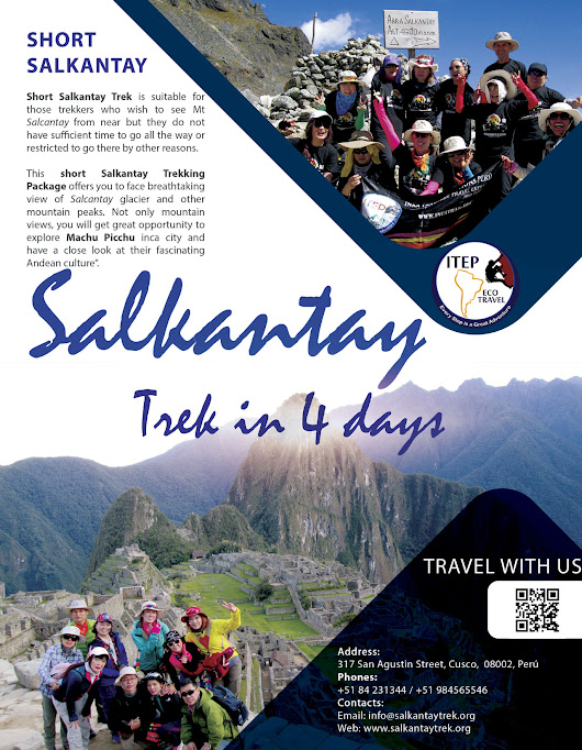 Short Salkantay Trek to Machu Picchu in 4 days