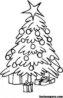 Printable Christmas Tree coloring pages - Free Printable ...