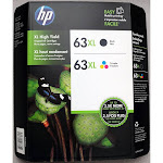 Hewlett Packard L0R44BN HP 63XL High yield Orginial Ink Cartridge, Black/Tri-Color - 2 pack, 480 pages yield