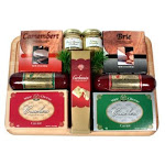 Gift Basket Village HoSa-Lg Large Holiday Meat and Cheese Cutting Board Gift Basket