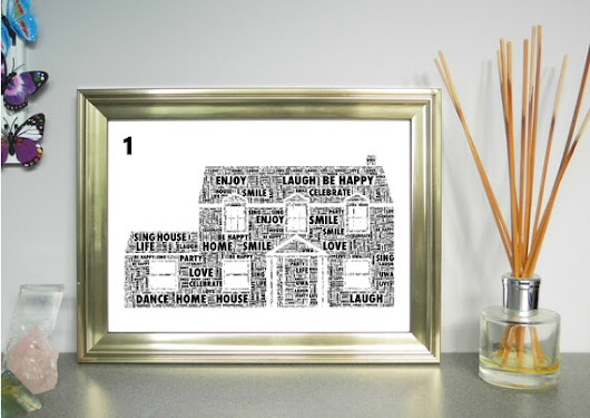 House Personalised Word Art Print. FREE UK P&P. Family Home | Etsy