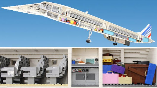 65,000-Piece Lego Concorde Reveals all the Plane's Inner Workings