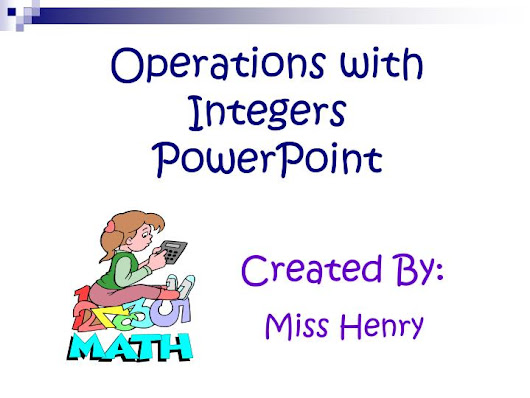 Operations with Integers PowerPoint