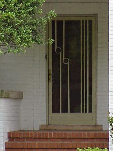 An Art Deco door in Tulsa