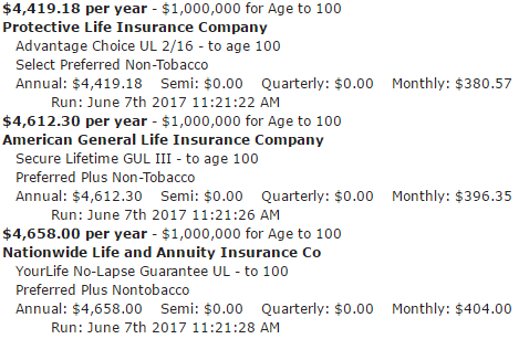 $1,000,000 Life Insurance To Age 100 – Policy – Rates – Cost – Quote