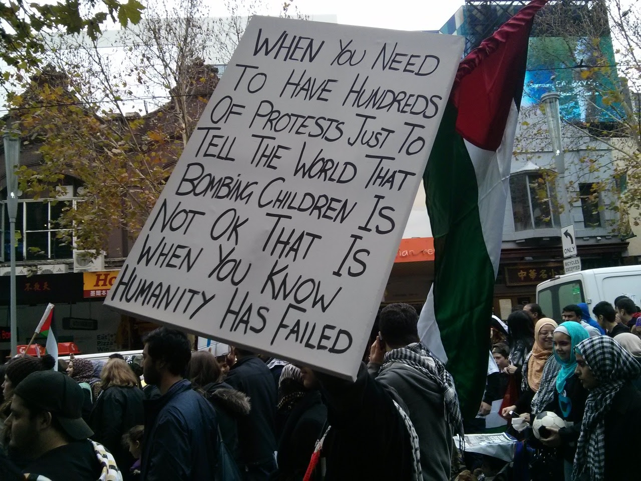 Melbourne protest for Gaza, July 19. 2014.