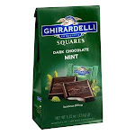 Ghirardelli Squares Mint Filled Dark Chocolate Bars (5.32 Oz, Pack Of 6)