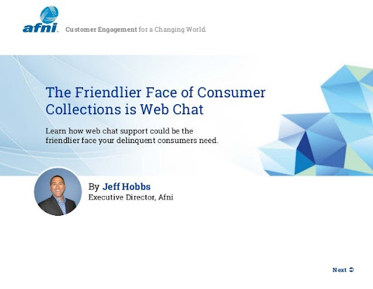 The Friendlier Face of Consumer Collections is Web Chat