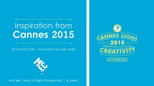Cannes Lions 2015: The truly useful trends