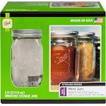Ball Mini Storage Jars, Clear, 4 oz - 4 pack
