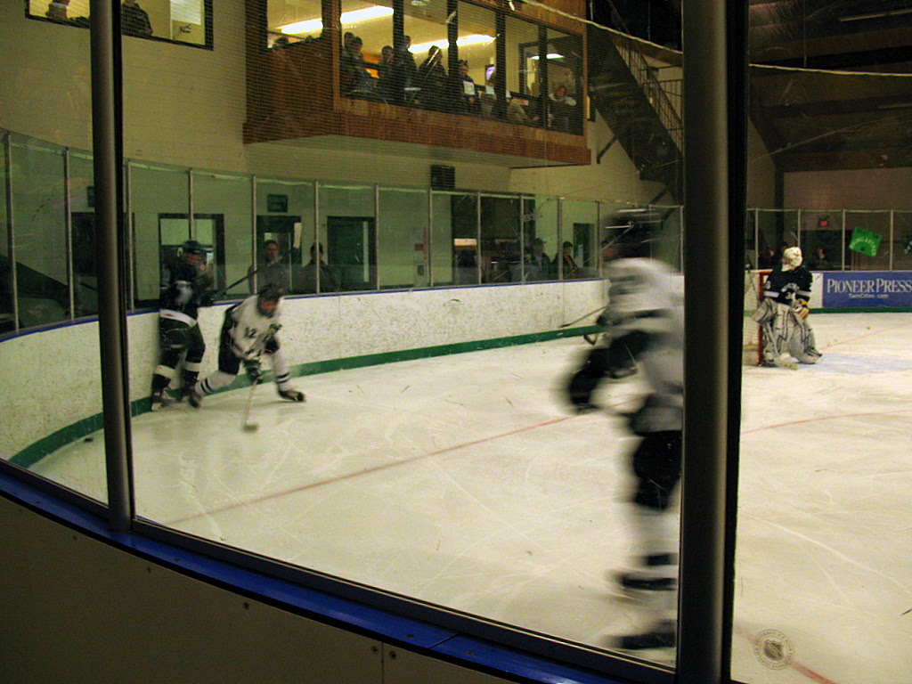 Park of Cottage Grove Wolfpack versus Mounds View Mustangs played on Minnesota Hockey Day