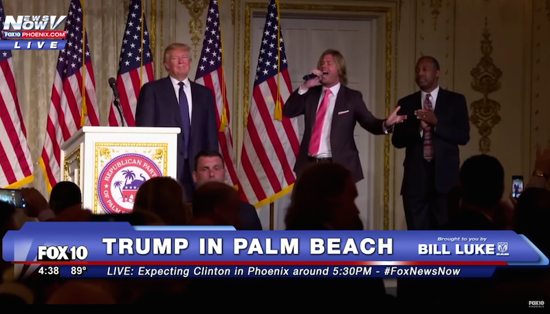 Donald Trump Danced Onstage With Ben Carson While a Man Serenaded Them With a Special Song