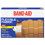 Band-Aid Brand Flexible Fabric Adhesive Bandages - 100 count
