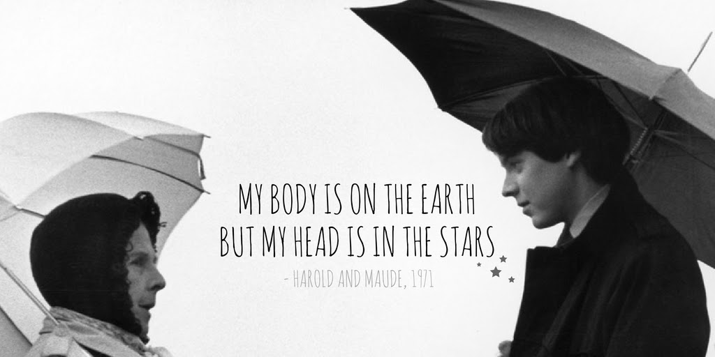 My body is on the earth, but my head is in the stars