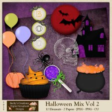 Halloween Mix Volume 2 by Beckys Creations