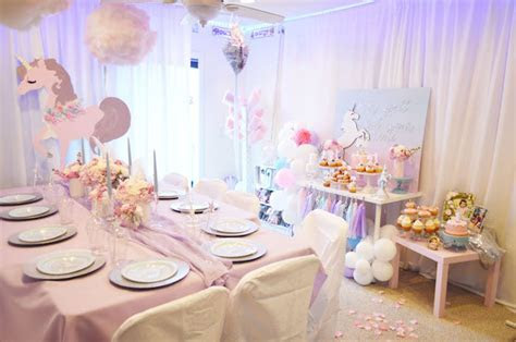 Kara's Party Ideas Elegant Pastel Unicorn Soiree   Kara's