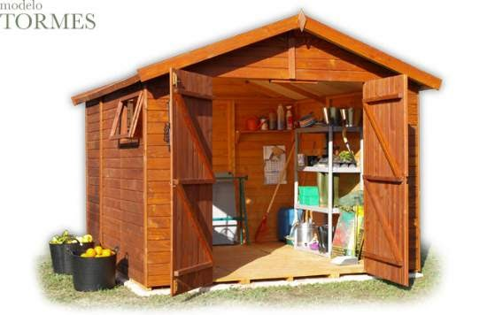 Casas de madera prefabricadas bodegas jardin - Casas prefabricadas metalicas ...