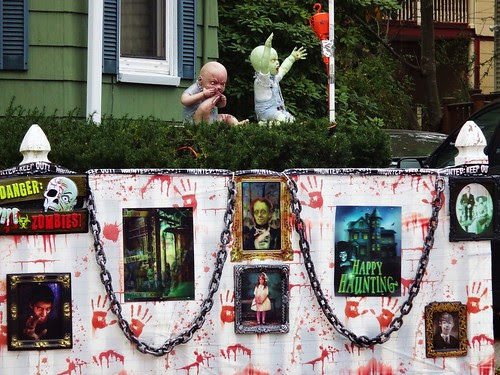 Decorated house zombabies
