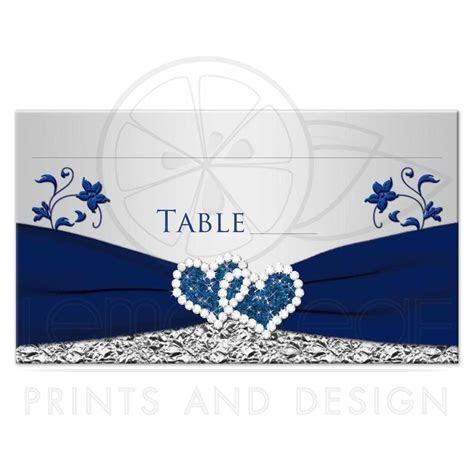 Wedding Place Card or Escort Card   Flat   Navy Blue
