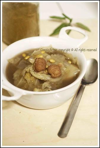 minestra castagne verza soia