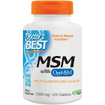 Doctor's Best MSM with OptiMSM 1500 mg. 120 Tablets
