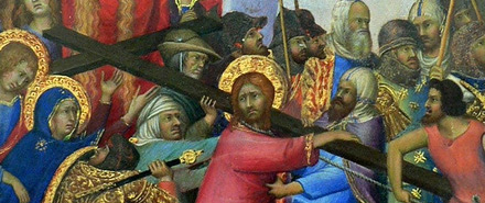 The Carrying of the Cross by Simone Martini, 1333