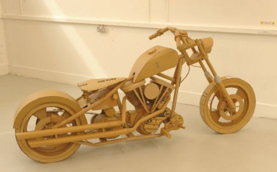Art student creates iconic Harley Davidson replica using recycled ...