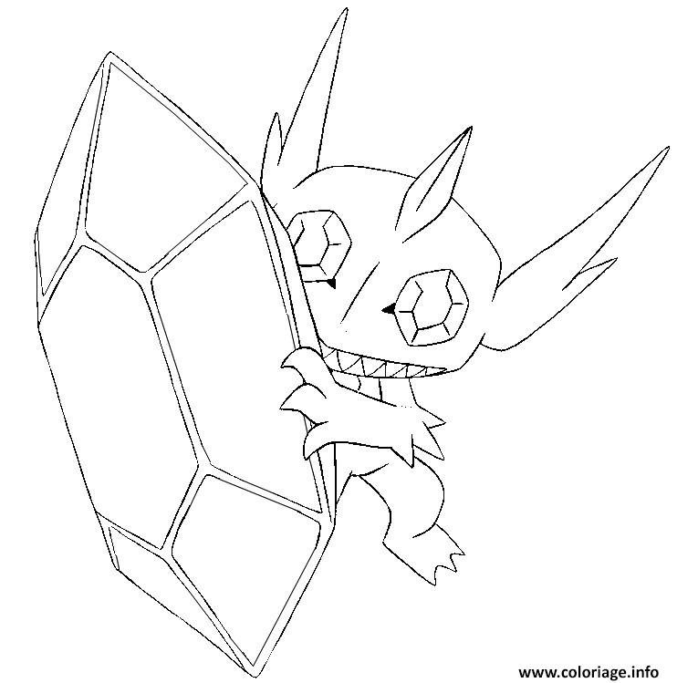 Coloriage Pokemon Mega Evolution Tenefix 302 Jecoloriecom