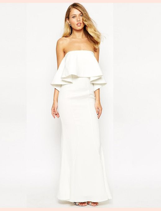 45 Wedding Dresses Under 500 Jarlo Lily Bandeau Maxi Dress With Exaggerated Frill Budget Affordable Inexpensive photo 45-Wedding-Dresses-Under-500-Jarlo-Lily-Bandeau-Maxi-Dress-With-Exaggerated-Frill-Budget-Affordable.jpg