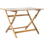 Positano Outdoor Acacia Wood Folding Dining Table by Christopher Knight Home Natural